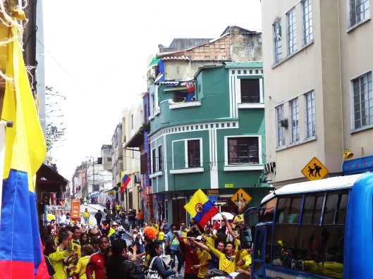world cup celebration in bogota