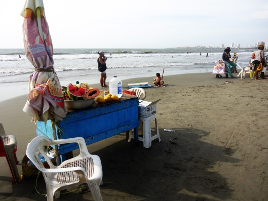 fruit vendor beach
